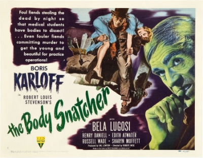 THE BODY SNATCHER 1945 lobby card Boris Karloff
