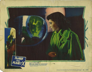 THE MAN FROM PLANET X lobby card