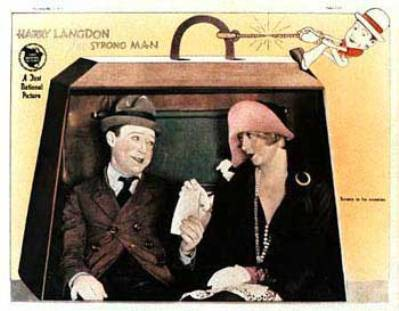 THE STRONG MAN 1926 LOBBY CARD HARRY LANGDON