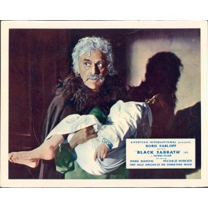 BLACK SABBATH (BAVA). BORIS KARLOFF. LOBBY CARD