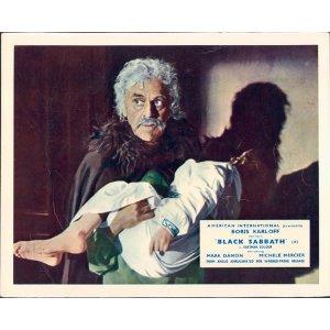 BLACK SABBATH (BAVA). BORIS KARLOFF. LOBBY CARD