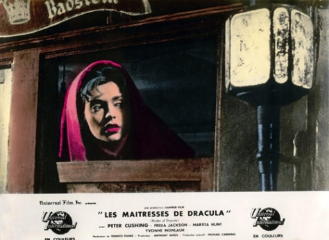 BRIDES OF DRACULA 1960 lobby card