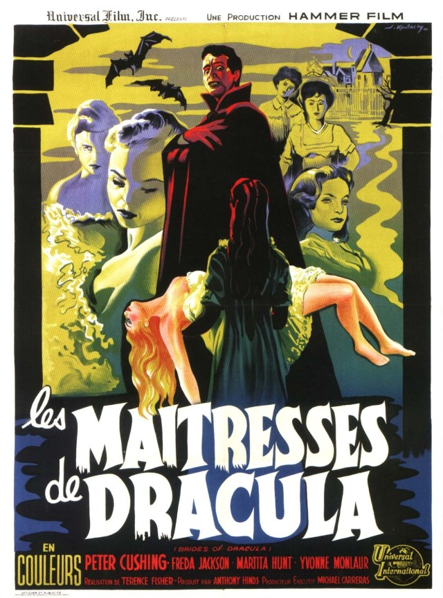 BRIDES OF DRACULA (Terence Fisher) poster