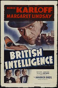 BRITISH INTELLIGENCE POSTER. KARLOFF