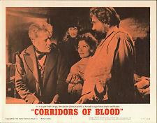 CORRIDORS OF BLOOD LOBBY CARD. KARLOFF