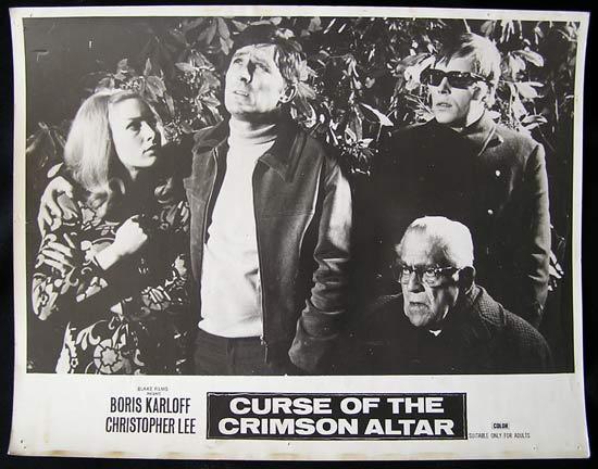 CURSE OF THE CRIMSON ALTAR lobby card