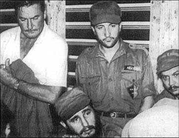 Errol Flynn with Castro