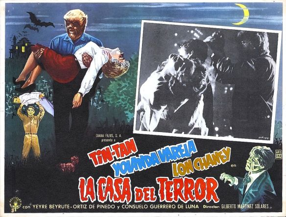 Face of the Screaming Werewolf LA CASA DEL TERROR poster