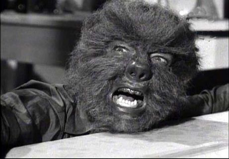 Face of the Screaming Werewolf Lon Chaney, jr.