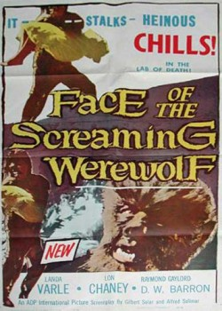 FACE OF THE SCREAMING WEREWOLF poster