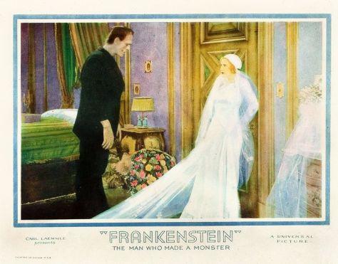 FRANKENSTEIN (1931, JAMES WHALE) KARLOFF, MAE CLARK. LOBBY CARD