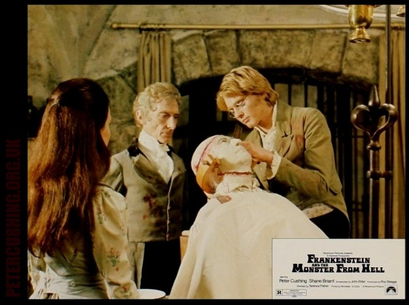 Frankenstein And The Monster From Hell  lobby card
