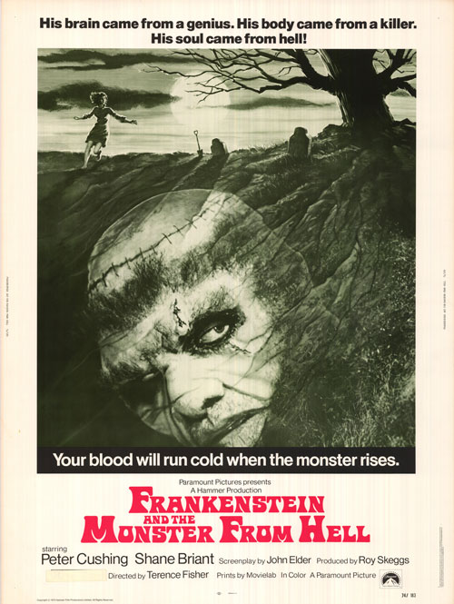 Frankenstein And The Monster From Hell  (Terence Fisher) poster
