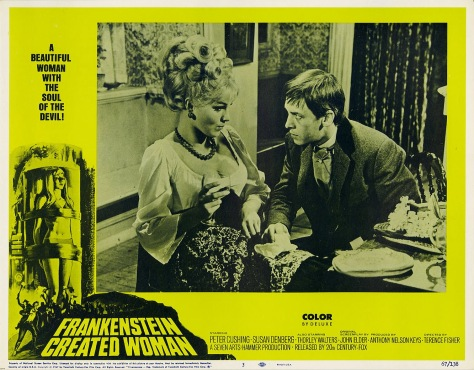 FRANKENSTEIN CREATED WOMAN lobby card. Susan Denberg