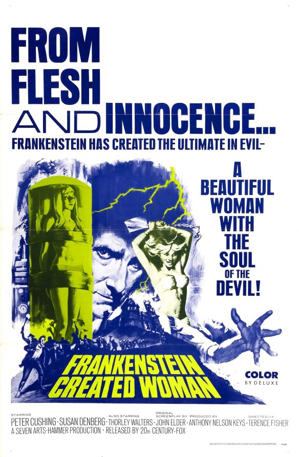 FRANKENSTEIN CREATED WOMAN poster (Terence Fisher)