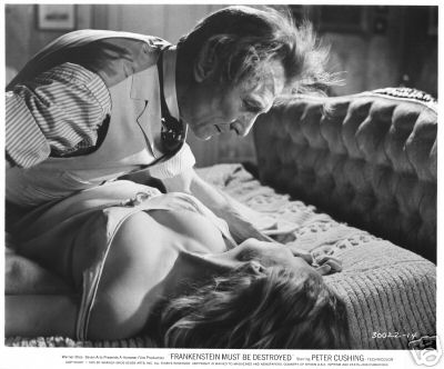 FRANKENSTEIN MUST BE DESTROYED Peter Cushing, Veronica Carlson