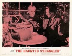 HAUNTED STRANGLER. BORIS KARLOFF. LOBBY CARD