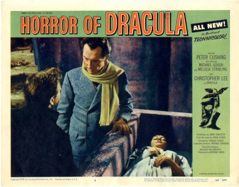 HORROR OF DRACULA lobby card