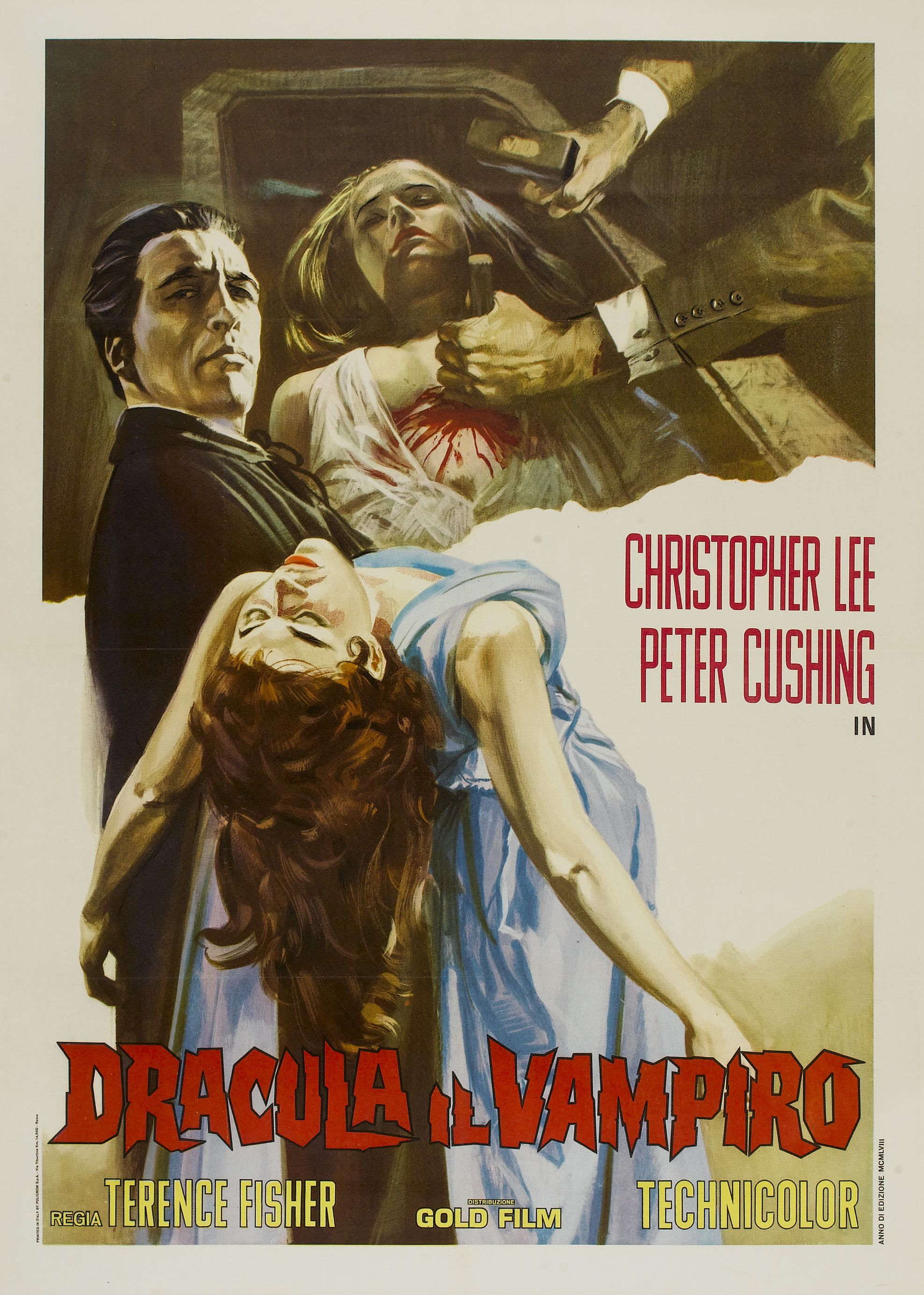 terence fisher s the horror of dracula 1958 and dracula has horror of dracula poster 1958