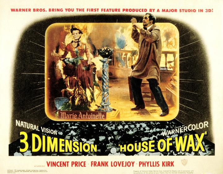 House of Wax. Vincent Price. Lobby card