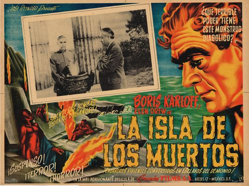 ISLE OF THE DEAD LOBBY CARD. KARLOFF