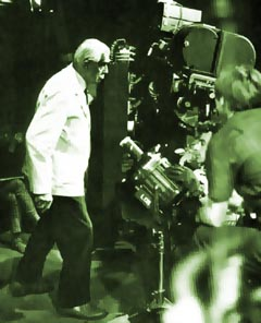 Karloff filming with Jack Hill