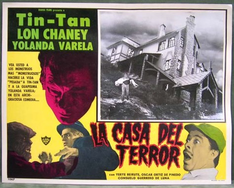LA CASA DEL TERROR LOBBY CARD. LON CHANEY, JR.