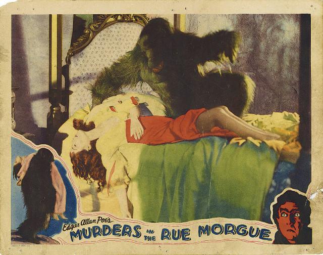 Murders in the Rue Morge (1932, Dir. Florey) Lobby card