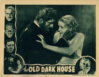 Old Dark House. LOBBY CARD. KARLOFF AND GLORIA STUART