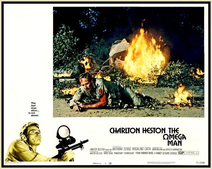 Omega Man '71 lobby card. Charlton Heston