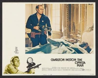 Omega Man lobbycard Charlton Heston