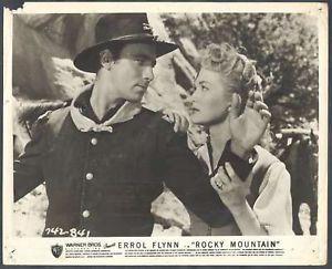 Rocky mountain (1950) lobby card. Patrice Wymore