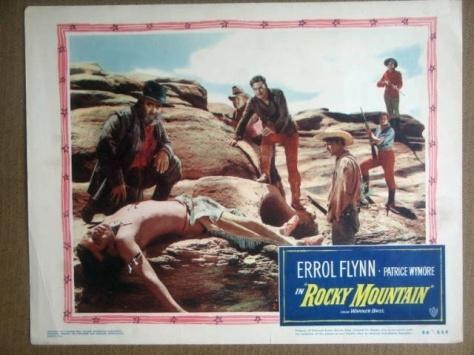 Rocky Mountain. Errol Flynn. 1950 lobby card
