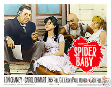 SPIDER BABY LOBBY CARD Color