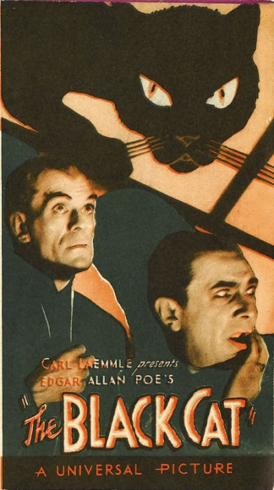 THE BLACK CAT. KARLOFF AND LUGOSI