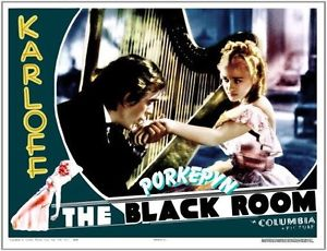 THE BLACK ROOM. BORIS KARLOFF. LOBBY CARD