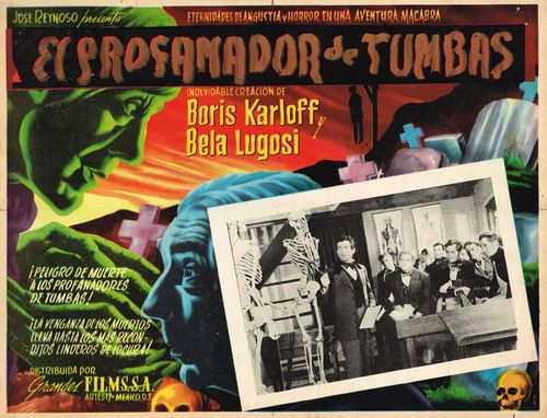 THE BODY SNATCHER LOBBY CARD. KARLOFF AND LUGOSI