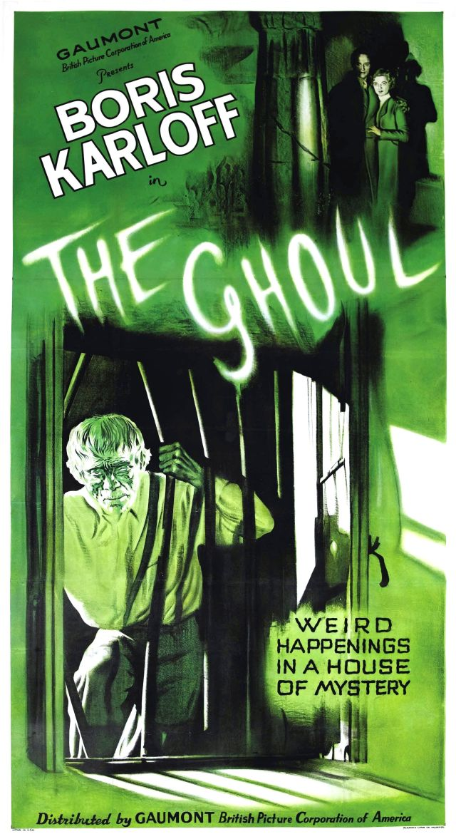THE GHOUL 1933 POSTER. BORIS KARLOFF