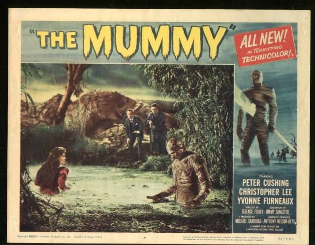 The Mummy (1959) Christopher Lee, Peter Cushing. lobby card