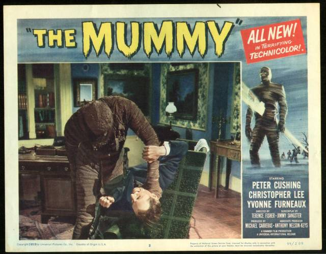 The Mummy (1959) Dir. Fisher) Peter Cushing, Christopher Lee
