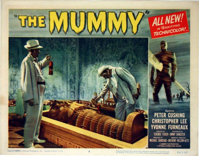 The Mummy (Hammer Studions, Terence Fisher dir) lobby card
