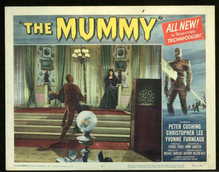 THE MUMMY (TERENCE FISHER) lobby card