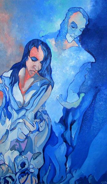 ALFRED EAKER %22Annunication%22 oil on canvas © 2011 Alfred Eaker