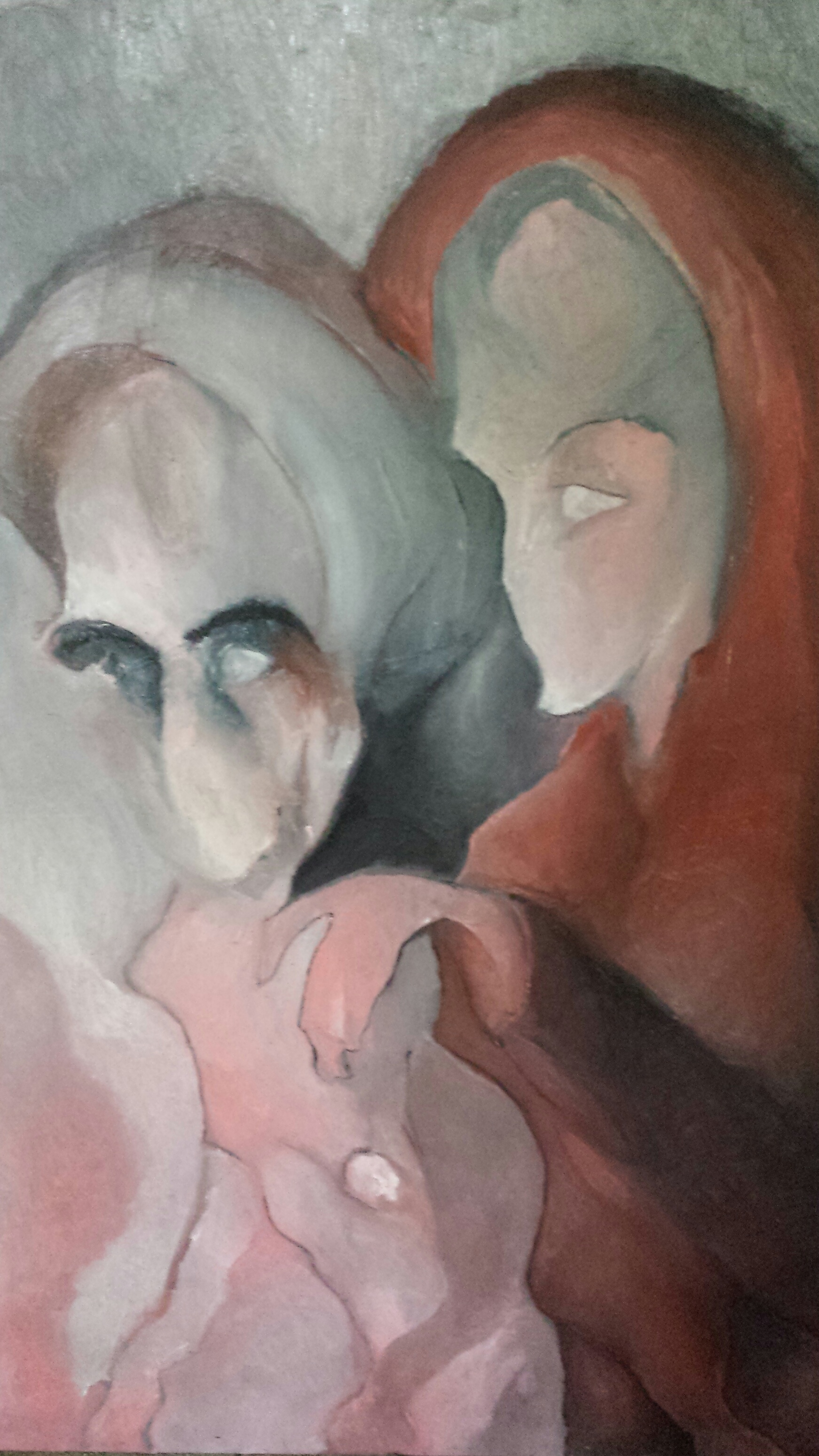 Alfred Eaker %22Christ and the Woman at the well.%22 oil on canvas. © 2014 Alfred Eaker