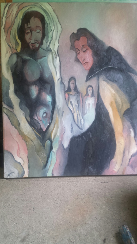 Alfred Eaker %22Pieta%22 oil on canvas © 2014 Alfred Eaker