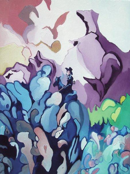 Alfred EAKER Blue Fugue oil on canvas © 2007 alfred eaker