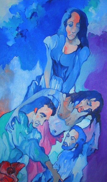 Alfred Eaker PIETA (2011) oil on canvas © 2011 Alfred Eaker