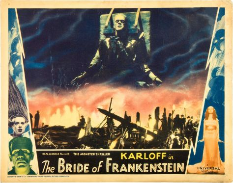 BRIDE OF FRANKENSTEIN (1935 (1935) LOBBY CARD. BORIS KARLOFF