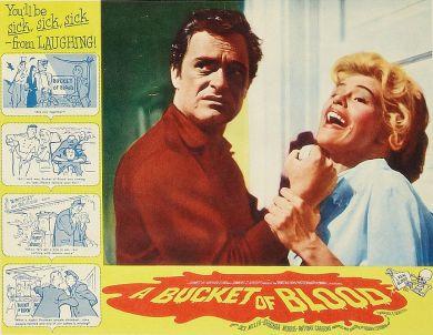 BUCKET OF BLOOD lobby card Dick Miller