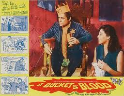 BUCKET OF BLOOD lobby card. Dick Miller